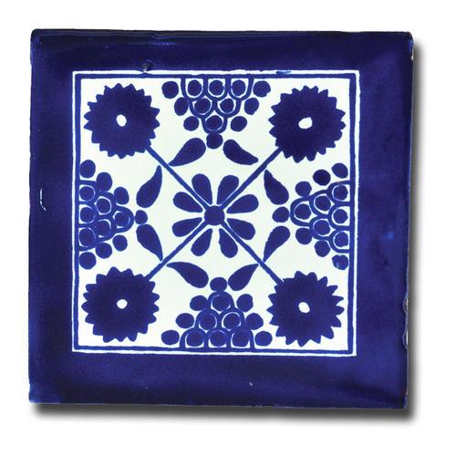white blue talavera tile southwest