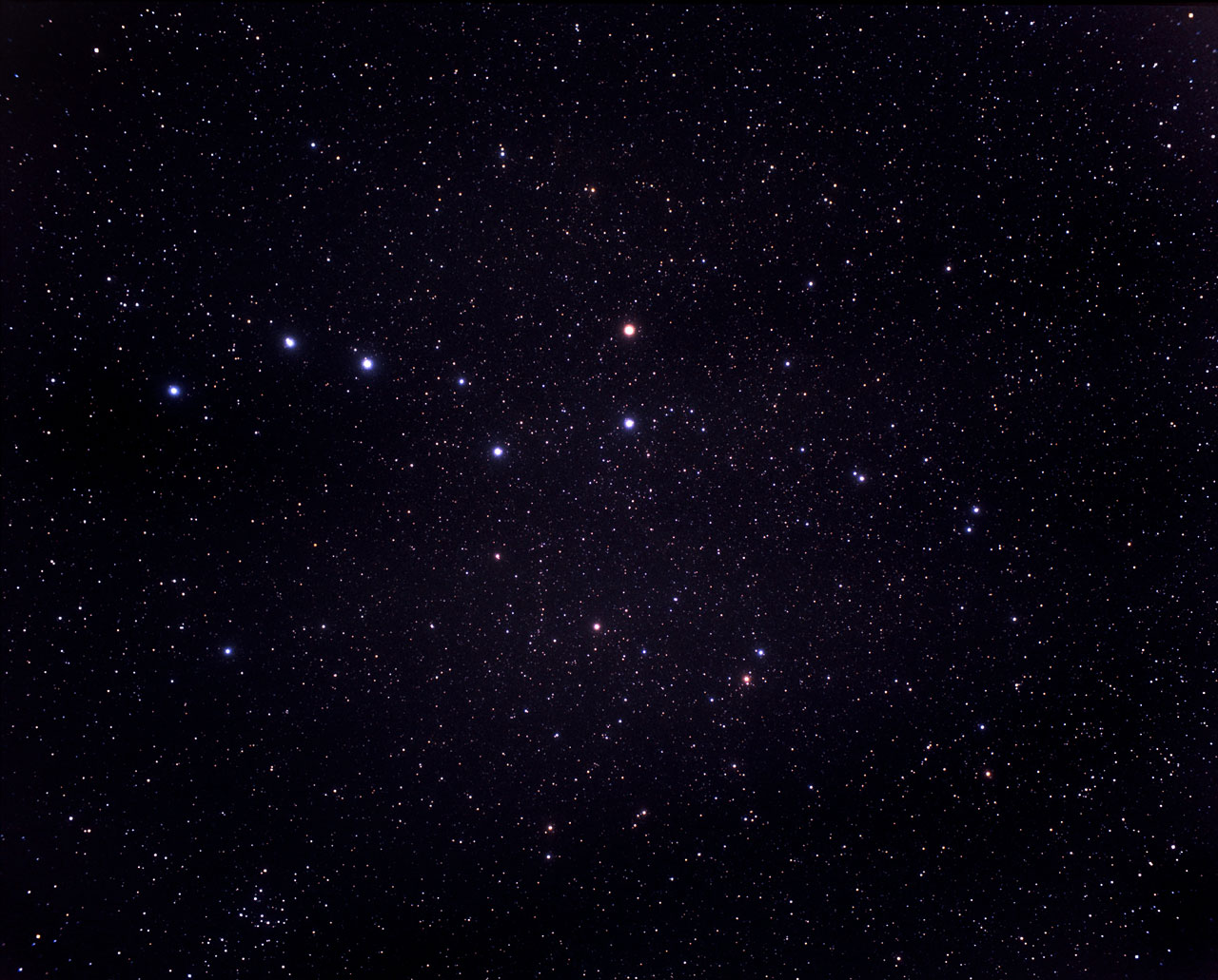 A Very Wide Field View Of The Constellations Of Ursa Major