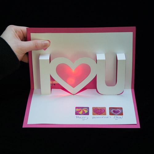 Light Up Valentine Cards Learnsparkfuncom