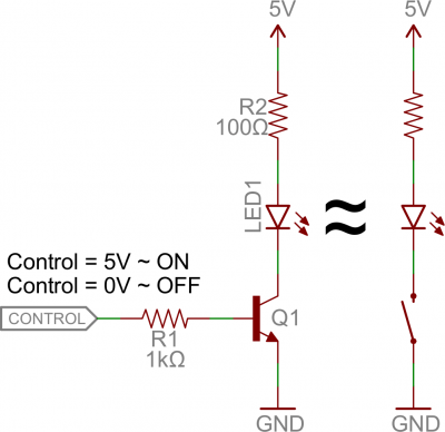 bc547 transistor project switch