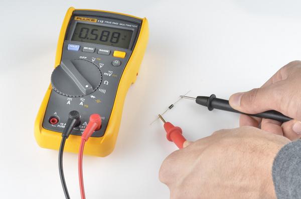 Measuring forward voltage drop