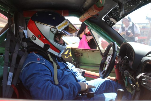The author straps in previous to the SVRA Mazda Heritage Cup trophy race. Photo: Jonathan Seiger