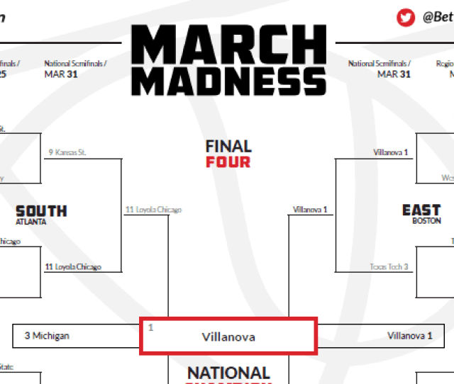 Preview Of The Completed 2018 Ncaa March Madness Bracket  C2 B7