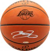 7eeade4ee LeBron James Los Angeles Lakers Autographed Lakers Logo Spalding Basketball  - Upper Deck ...