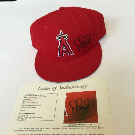 cd5c39325c5d8 Albert Pujols Signed Anaheim Los Angeles Angels Authentic Game Model Hat  COA - JSA Certified ...