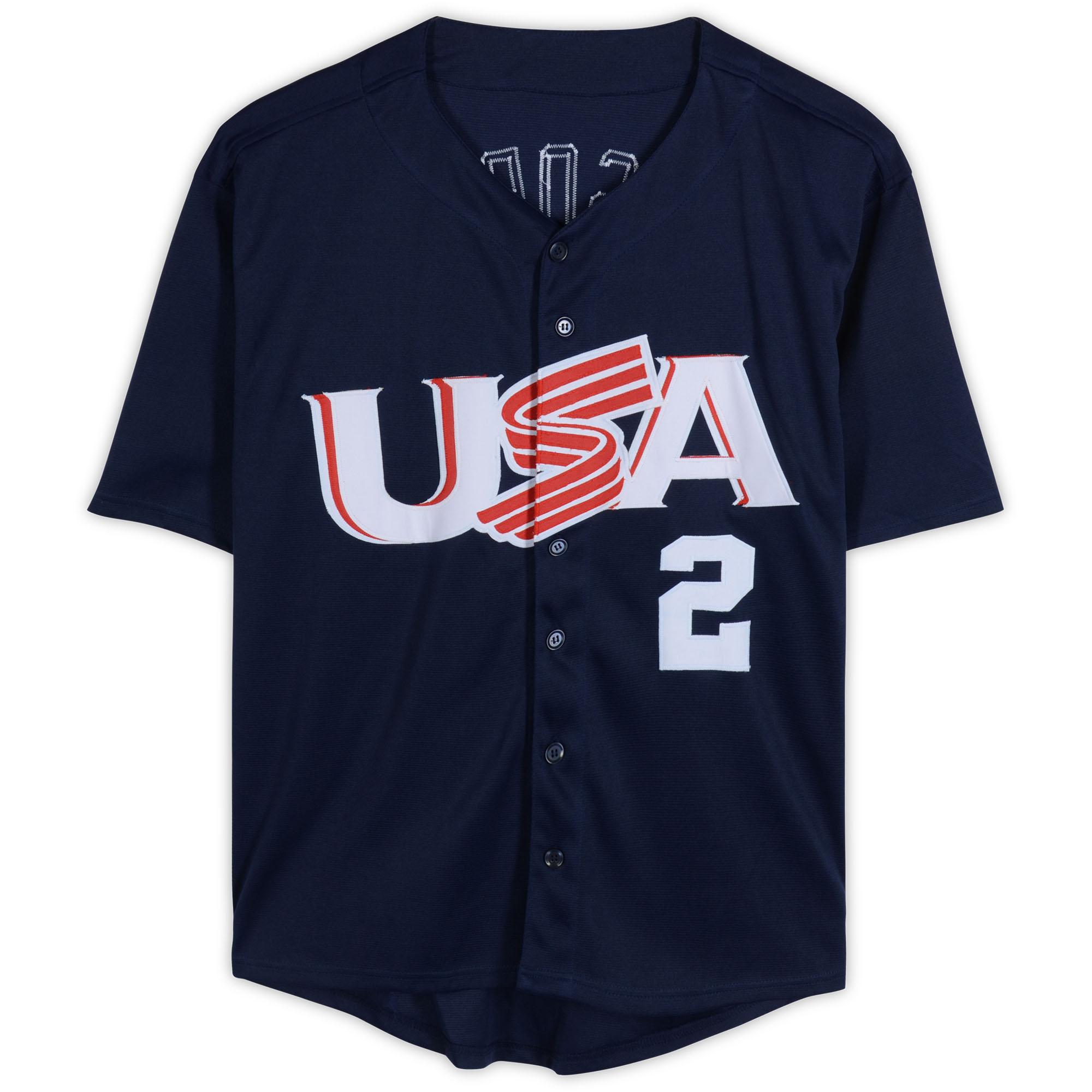 Tommy Lasorda Usa Olympic Team Autographed Blue Jersey Bas