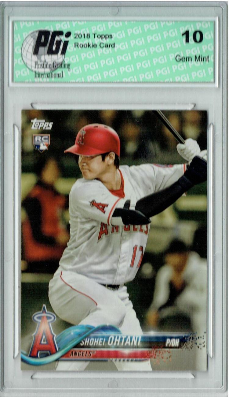 Shohei Ohtani 2018 Topps Baseball #A-17 SP Rookie Card PGI 10