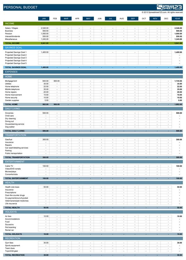 Business Expense Spreadsheet Template business budget templates – Expense Worksheet