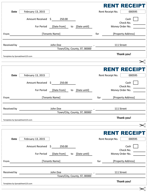 House Rental Receipt Template words microsoft and presents on – Simple Receipt Template Word