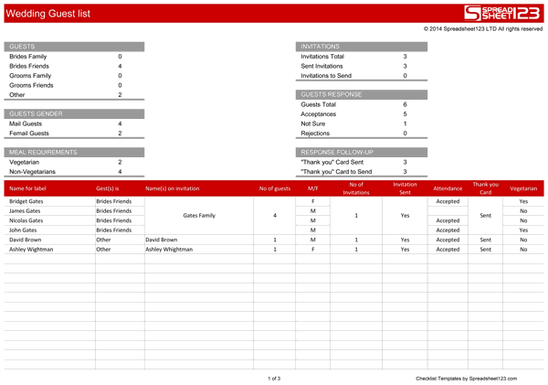 guest list templates free list templates event guest list – Event Guest List Template