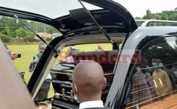 Nyachae's body flown to Kisii- Photos