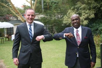 Gideon Moi holds talks with US envoy, praises cordial ties