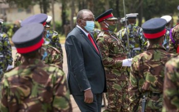 President Uhuru commends KDF for role in infrastructure development