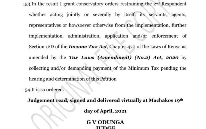 Mzmg4Ivijqby607D74E2Aae41 High Court Halts Implementation Of Minimum Tax By Kra
