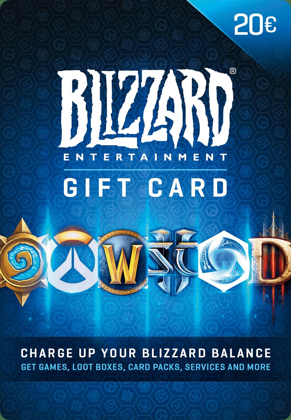 Blizzard Gift Card 20 Spel