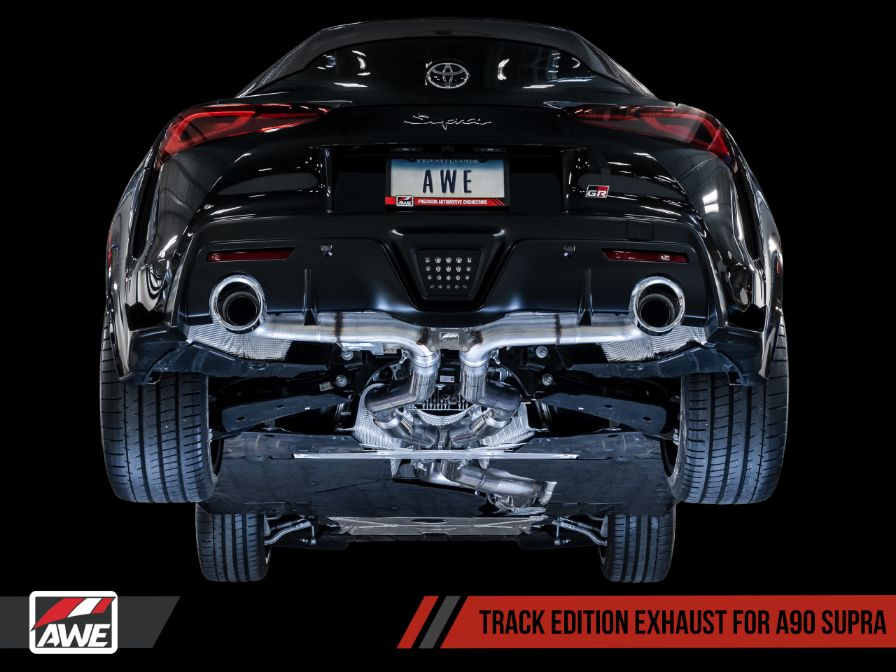 toyota supra gr a90 catback track touring edition awe tuning
