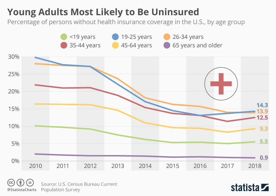 Health Care Coverage by Age Category