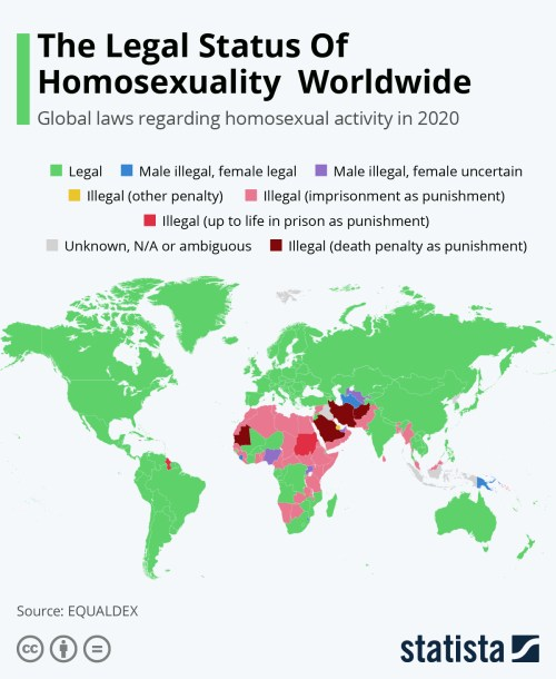 Infographics: The Legal Status of Homosexuality Around the World   Statista