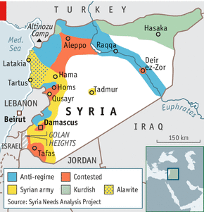 Balkanization of Syria Map credit The Economist