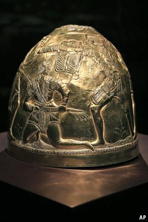 Scythian gold helmet