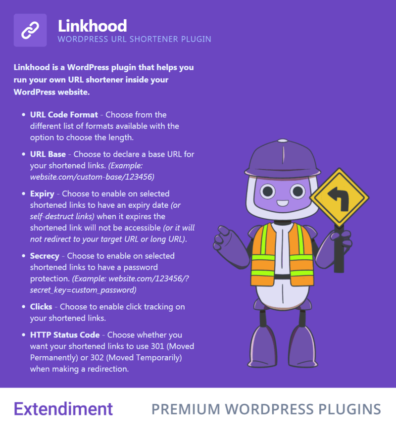 Linkhood - WordPress URL Shortener Plugin - 1