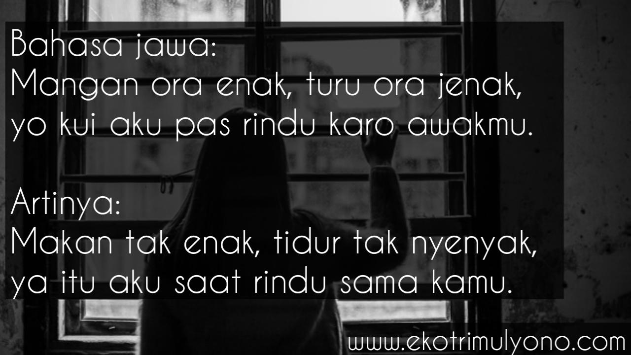 Kata Kata Rindu Bahasa Jawa Hmmmm Banget