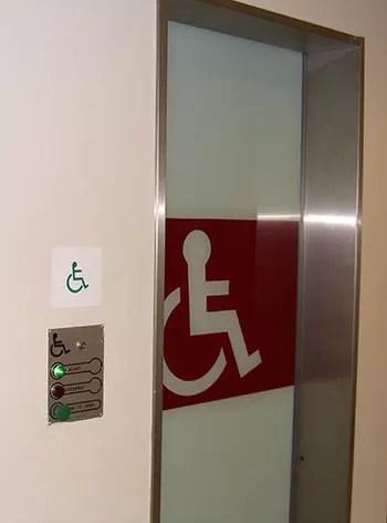 Disabled toilet door