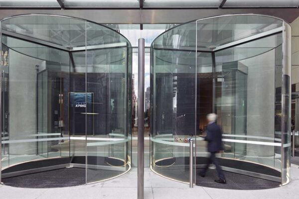 21 glass roof Diamond Series revolving doors installed at Barangaroo South towers | Architecture & Design