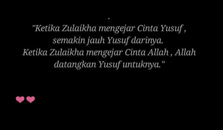 Quotes Cinta Nabi Yusuf Dan Zulaikha