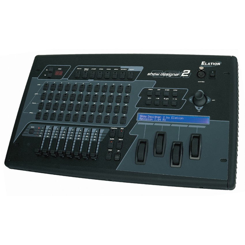 elation professional show designer 2cf 2 universe dmx lighting console
