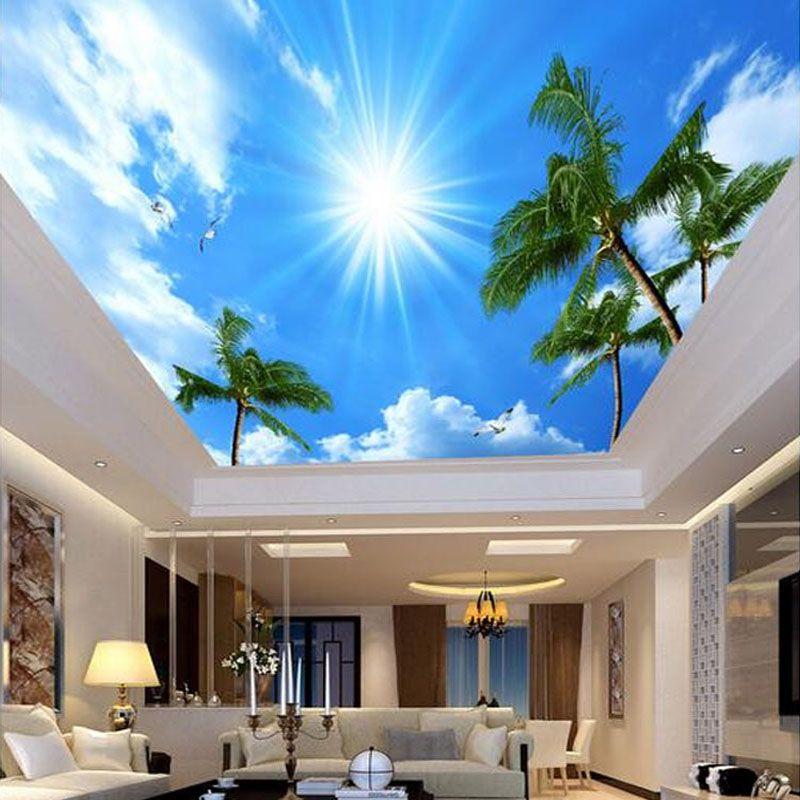 Bedroom Ceiling Wallpaper Design