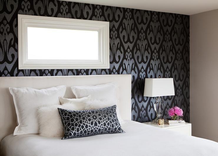 Dark Bedroom Wallpaper Feature Wall