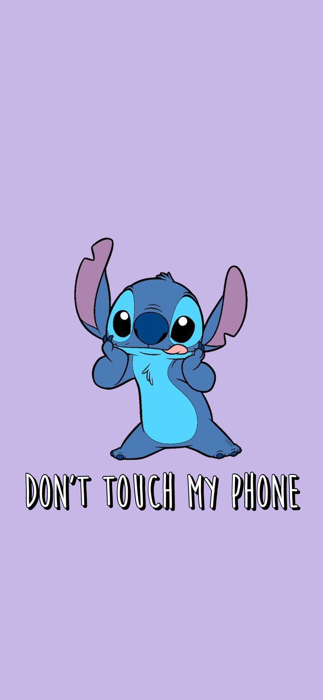 Wallpaper Dont Touch My Phone Stitch