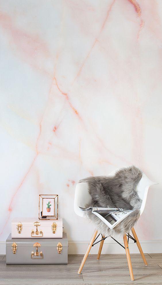 Rose Gold Wallpaper Bedroom Ideas
