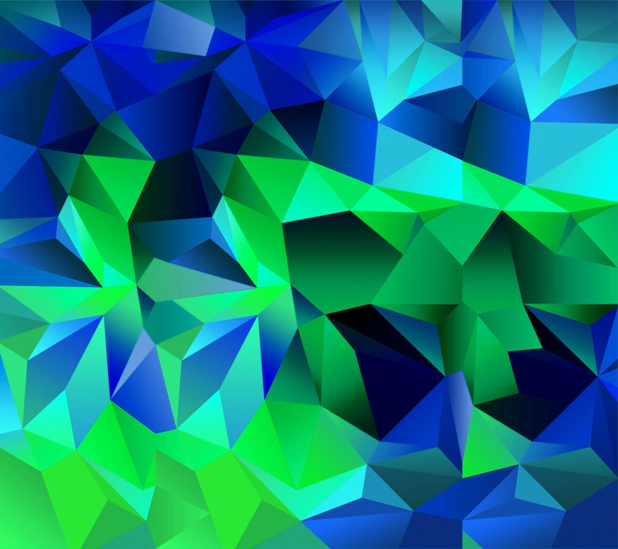 Cool Blue And Green Wallpaper