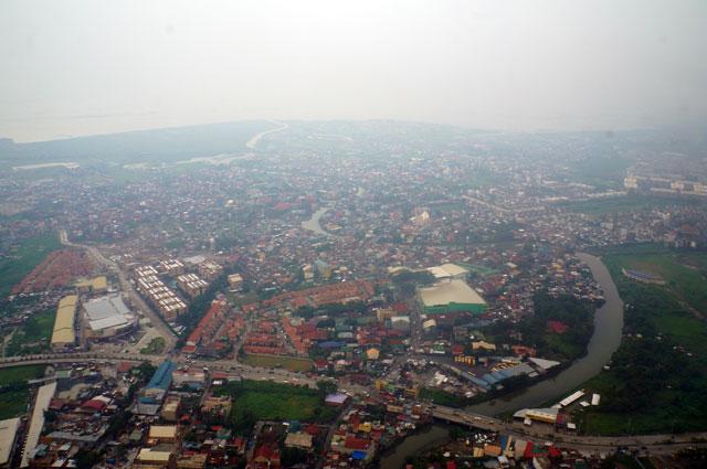 Part of Metro Manila seen just before my plane landed in Ninoy Aquino International Airport