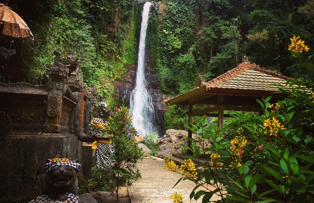 Entrance Ticket to Gitgit Waterfall Singaraja Bali! via @akhilachandrasekhar