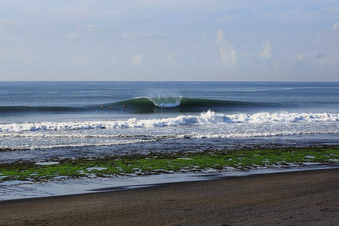 Just look at the waves, Green Bowl Beach is so good for surfing right! via @gpbali.homestay