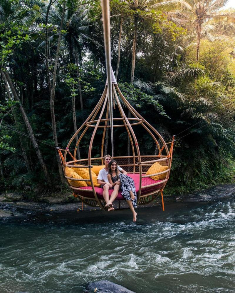 Ayung River is romantic honeymood destination in Ubud Bali.