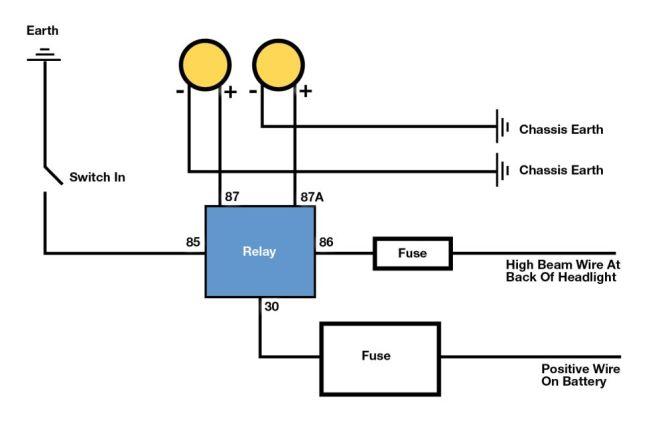 driving light wiring diagram toyota hilux  description