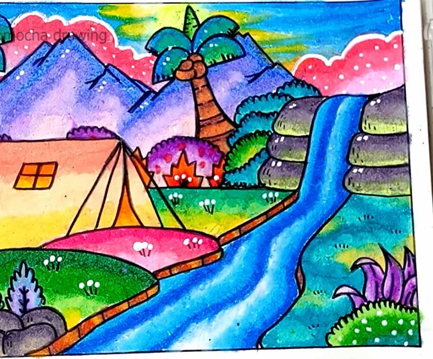 Gambar Pemandangan Alam Gunung Dan Air Terjun