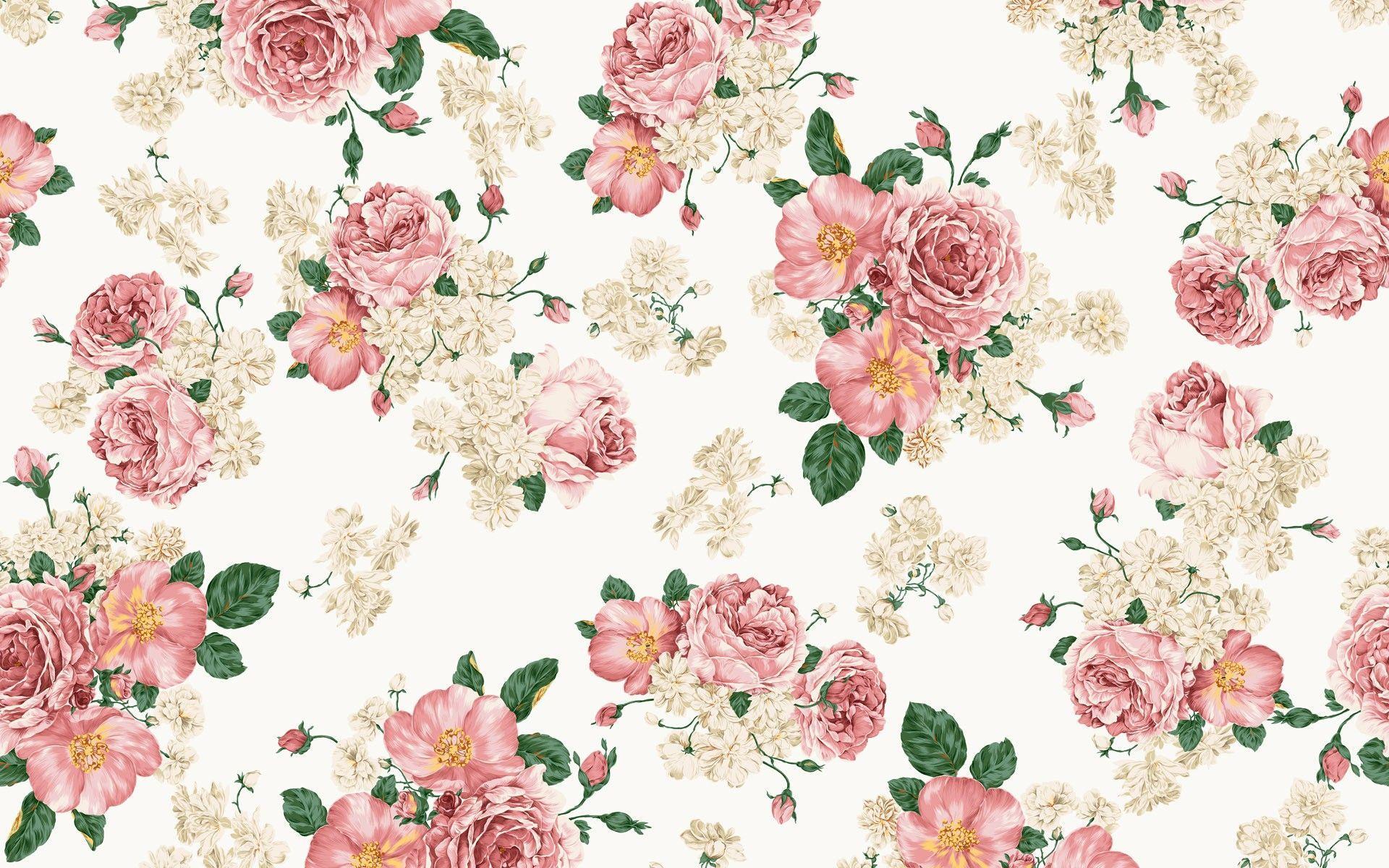 Vintage Floral Ipad Wallpaper