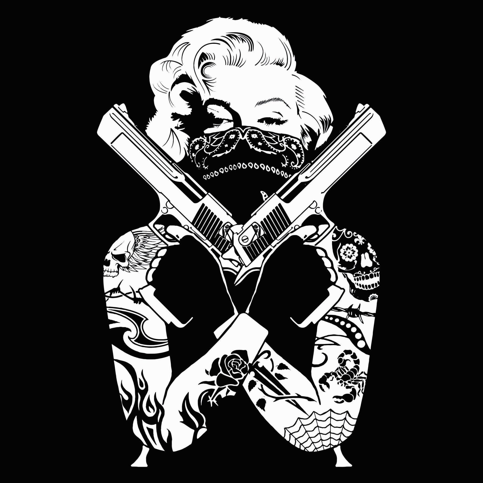 Gangster Love Skull Wallpaper