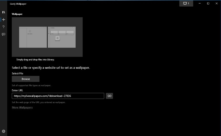 how to set live wallpaper for Windows PC