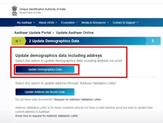 Update Demographic Data Including Address , UIDAI,  Aadhar date of birth, Aadhar Card Correction