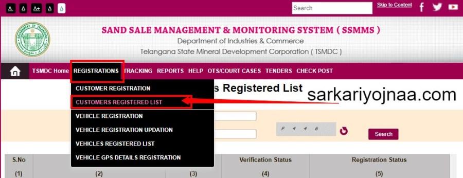 SSMMS Portal Customer List