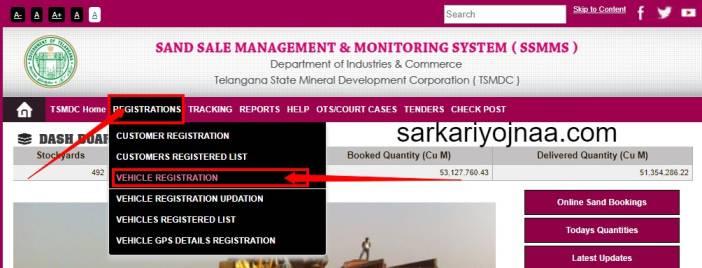 Vehicle Registration Process At SSMMS Portal Telangana