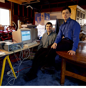 Google larry page sergey brin first server