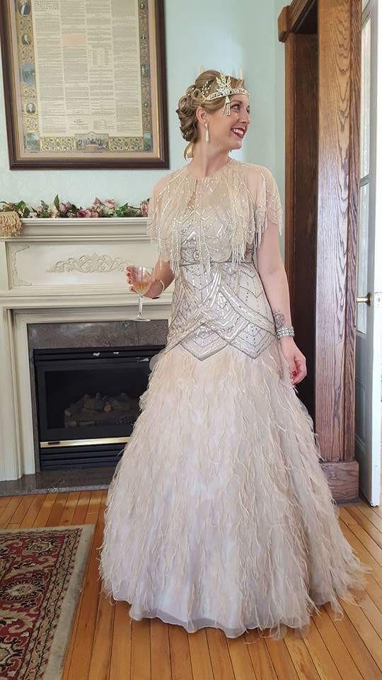 Sue Wong 1920's Feather Flapper Wedding Dress Used Wedding ...