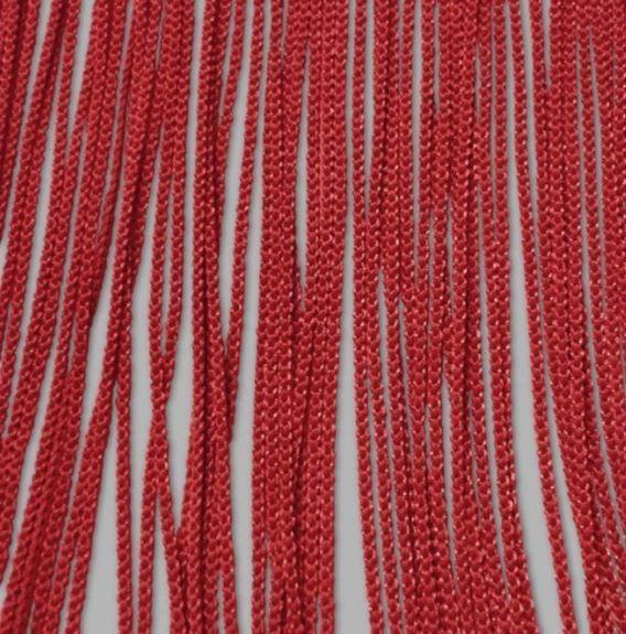 rideau a fils ignifuge permanent rouge haut 320 cm larg 100 cm